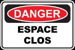 Danger espace clos